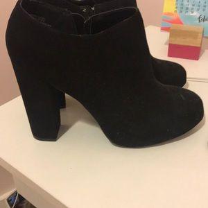 Black Suede Nine West Heels